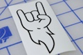 Rock On Arm Sticker