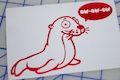 The Seal Says OW-OW-OW Sticker
