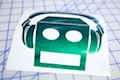 Shuffle Bot DJ Sticker