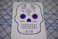 Sugar Skull Cross Design Sticker
