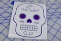 Sugar Skull Heart Design Sticker