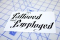 Tattooed And Employed Die Cut Sticker