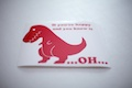 T-Rex Clap Sticker