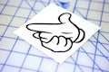 Finger Gun Sticker