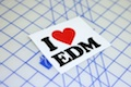 I Heart EDM Printed Sticker