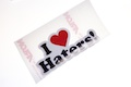 I heart Haters Printed