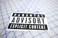 Parental Explicit Content Printed Sticker