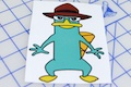 Perry The Platypus Printed Sticker