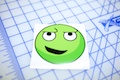 Green Smirk Smiley Sticker