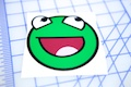 Kermit Smiley Sticker