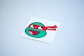 Ninja Turtle Raphael Smiley Sticker